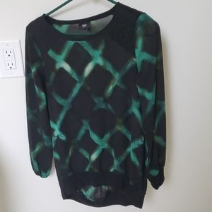 Target green and black top